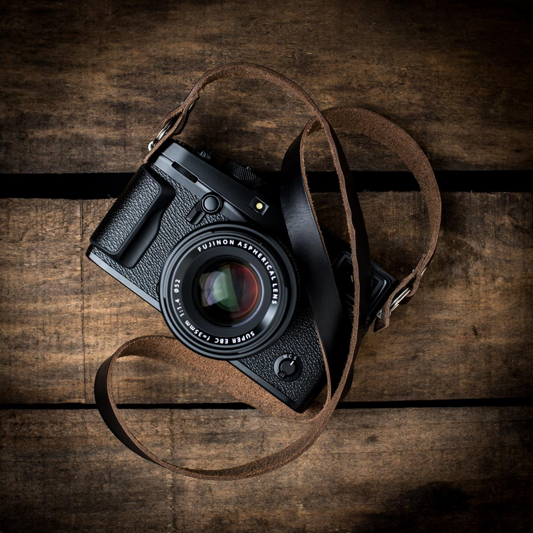Black-Kensington-Horween-Camera-Neck-Strap-Fuji-X-Pro-2