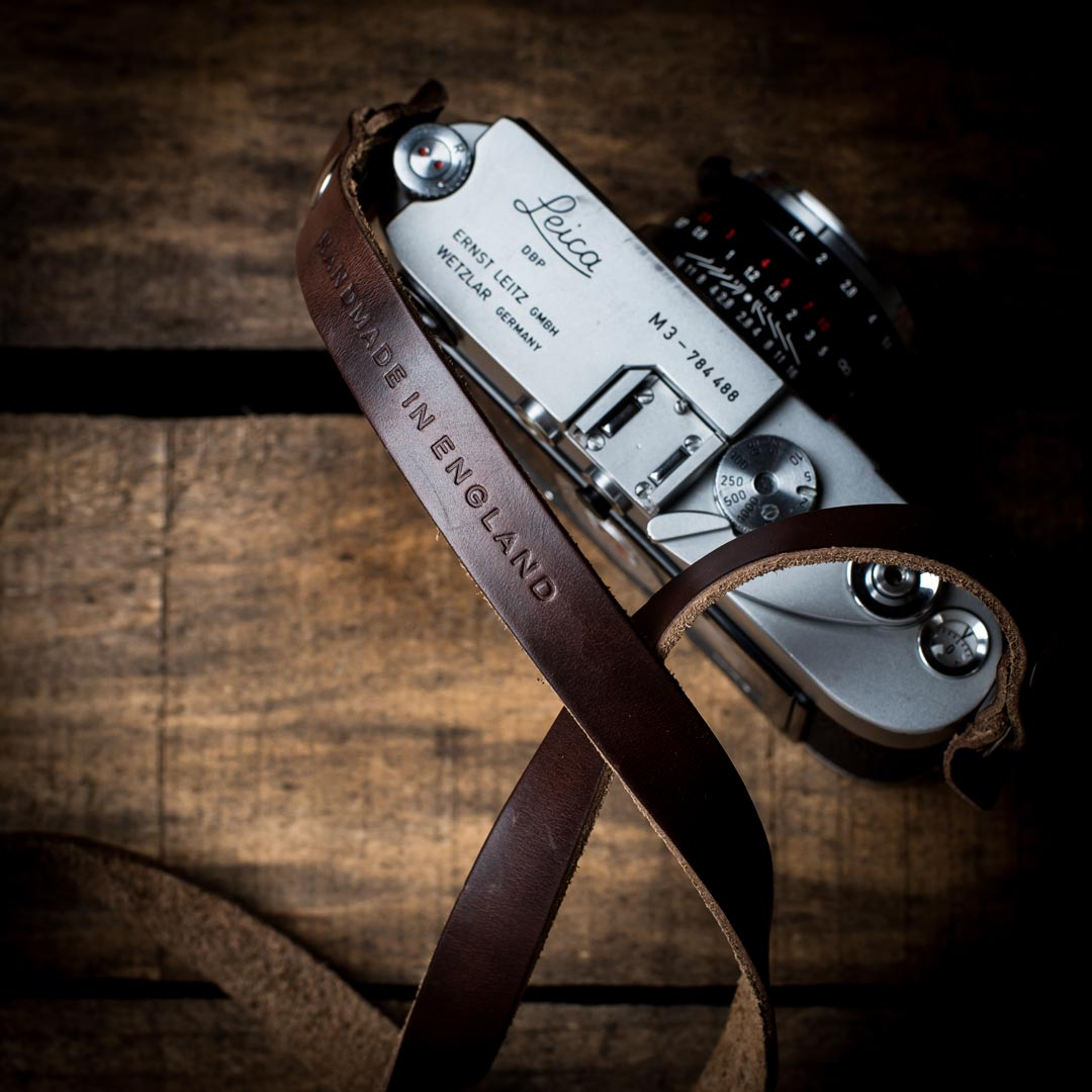 Brown-Horween-Leather-Camera-Neck-Strap-for-Leica-M-3