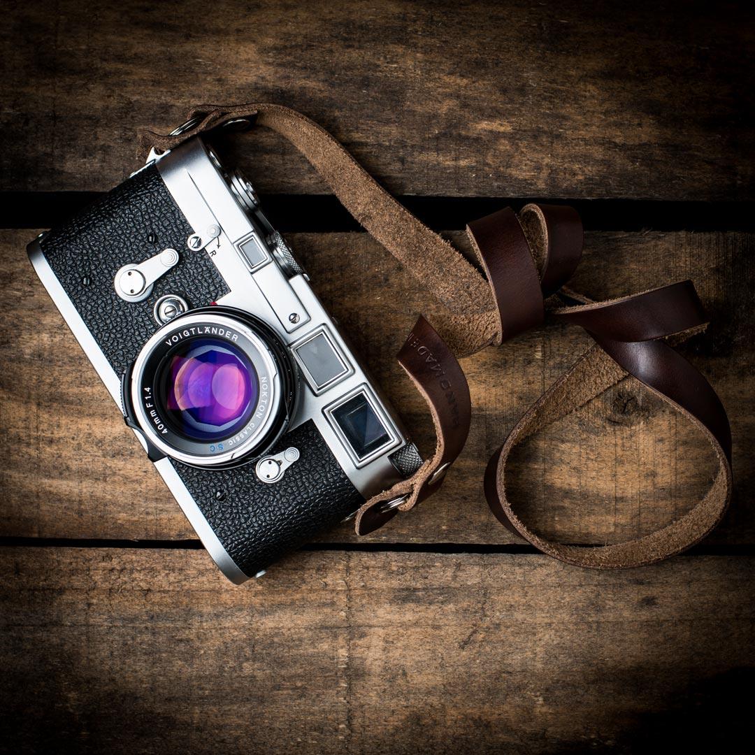 Brown-Kensington-Horween-Camera-Strap-Leica-M3