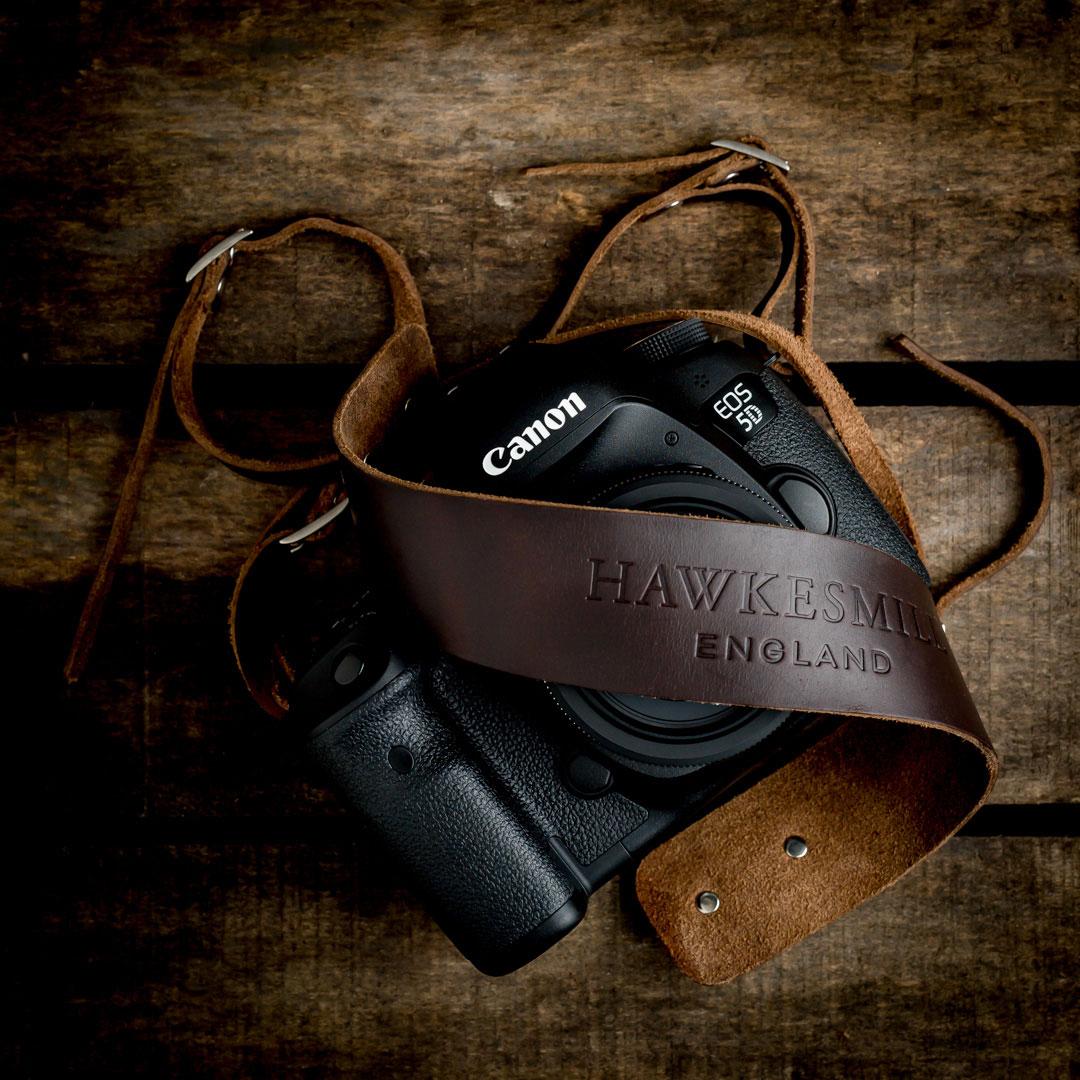 Hawkesmill-Borough-Camera-Neck-Strap-Canon-Brown2