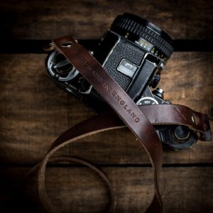 Hawkesmill-Kensington-Horween-Camera-Neck-Strap-on-Nikon-F2