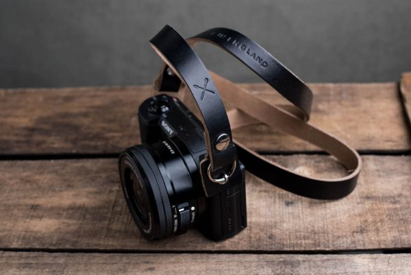 Hawkesmill-Kensington-Leather-Camera-Strap-Black-Rivet-Sony-5