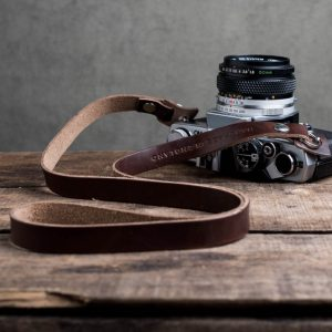 Hawkesmill-Kensington-Leather-Camera-Strap-Brown-Rivet-Olympus-3
