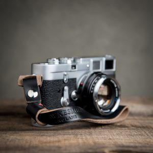 Hawkesmill-Leather-Camera-Wrist-Strap-Leica-Black