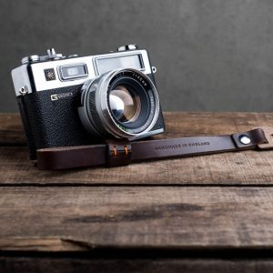 Hawkesmill-Oxford-Brown-Leather-Camera-Strap-Nikon-Yashica-Electro-2