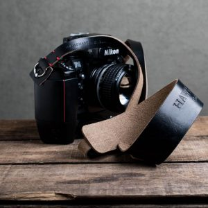 Hawkesmill-Westminster-Black-Leather-Camera-Strap-Nikon-F-2