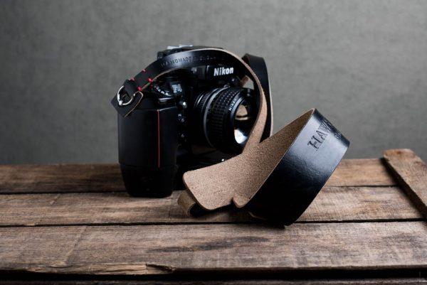 Hawkesmill-Westminster-Black-Leather-Camera-Strap-Nikon-F-2