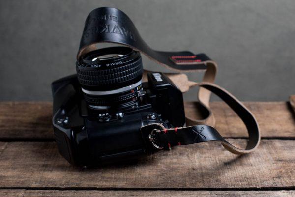 Hawkesmill-Westminster-Black-Leather-Camera-Strap-Nikon-F-5