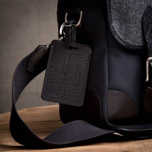 Leather Luggage Tag Grays-of-Westminster-Black