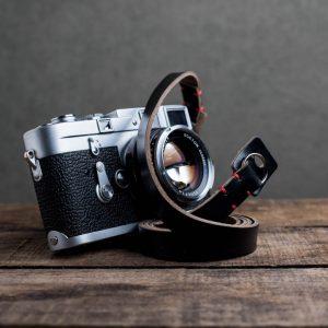 Hawkesmill-Kensington-Leather-Camera-Strap-Black-Stitched-Leica-M3-5