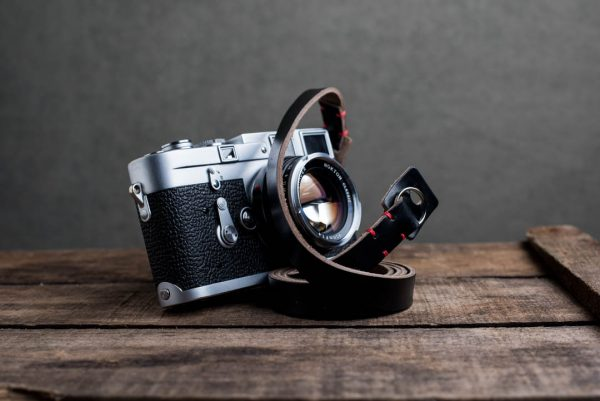Hawkesmill-Kensington-Leather-Camera-Strap-Black-Stitched-Leica-M3-5