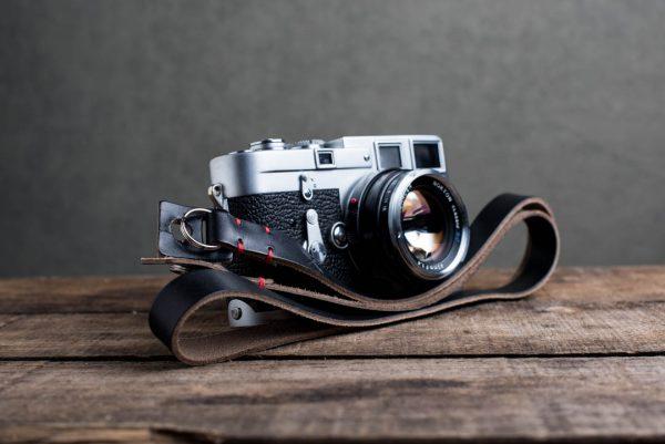 Hawkesmill-Kensington-Leather-Camera-Strap-Black-Stitched-Leica-M3-6