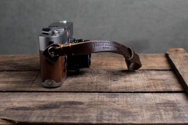 Hawkesmill-Oxford-Leather-Camera-Wrist-Strap-Brown-Stitched-Leica-M6-1