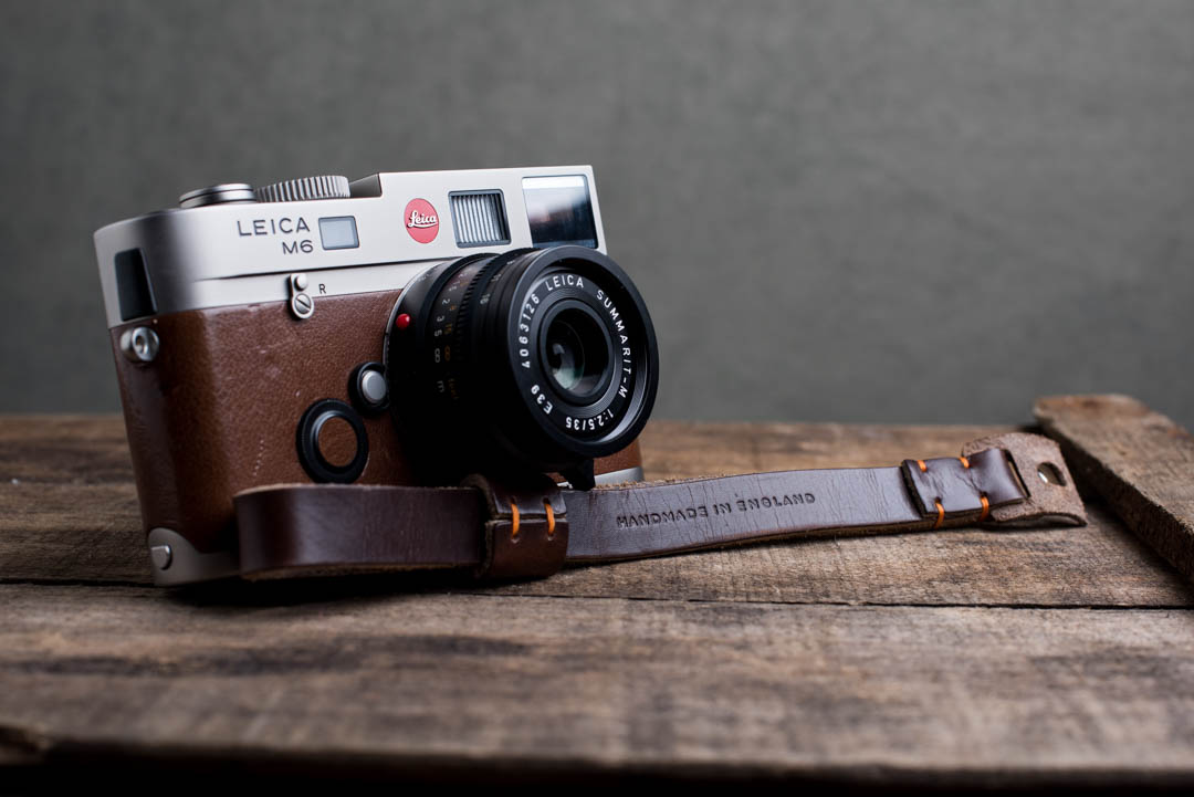 Hawkesmill-Oxford-Leather-Camera-Wrist-Strap-Brown-Stitched-Leica-M6-5