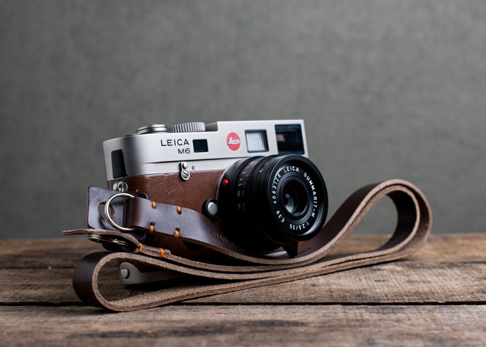 Hawkesmill-Brown-Kensington-Leather-Camera-Strap-Stitched-Leica-M6-Blog