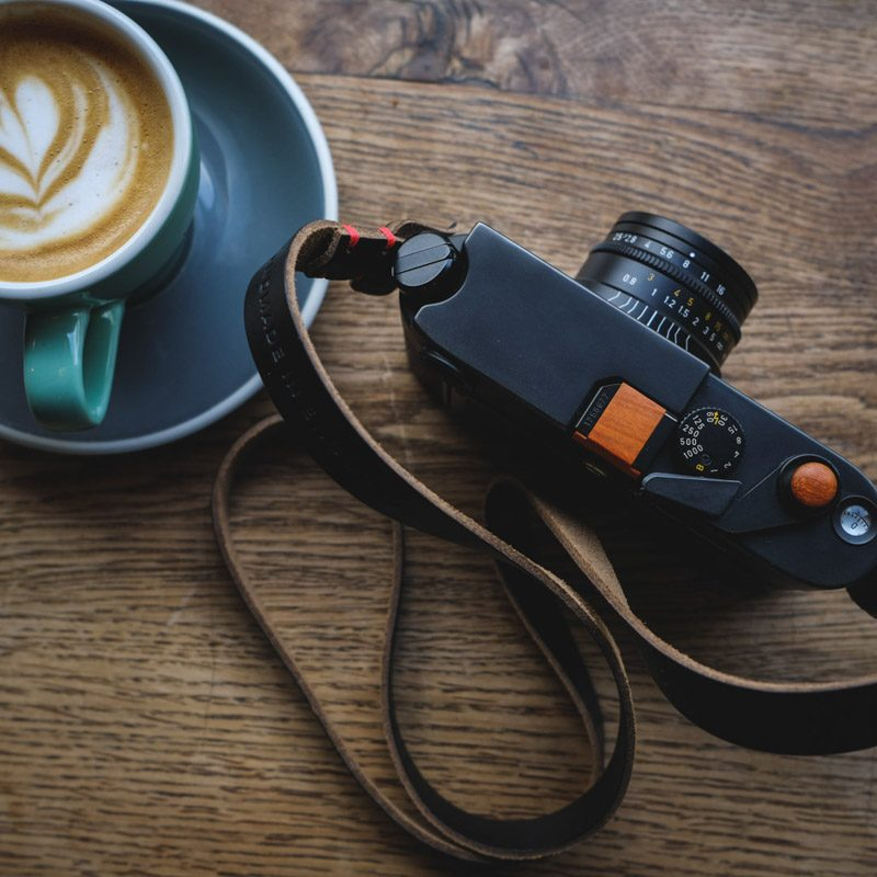 Leica M6 Classic with black Kensington leather camera strap