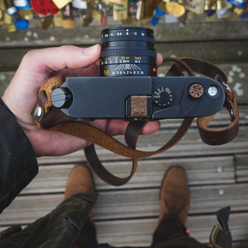 Leica M6 Classic with black Kensington leather camera neck strap in Paris