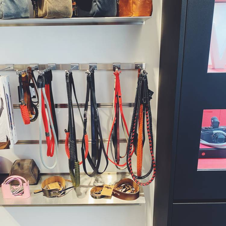 Hawkesmill Leather Camera Straps in Leica Store